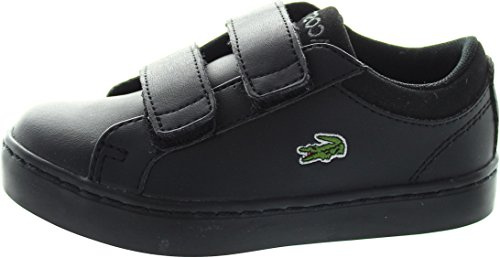 Infant Boys Lacoste Straight Set Trainers in Black.