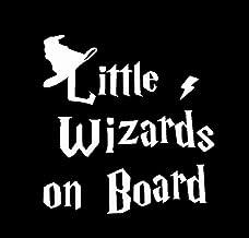CCI Little Wizards on Board Decal Vinyl Sticker|Cars Trucks Vans Walls Laptop| White |5.5 x 5.25 in|CCI1222