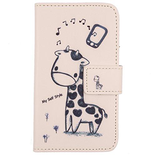 Lankashi PU Flip Leder Tasche Hülle Hülle Cover Handytasche Schutzhülle Etui Skin Für Gigaset GS110 6.1