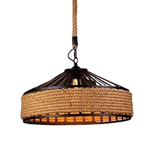Gazechimp Lámpara de Techo LED de Cuerda Tejida a Mano Acogedor E27 para Pasillo