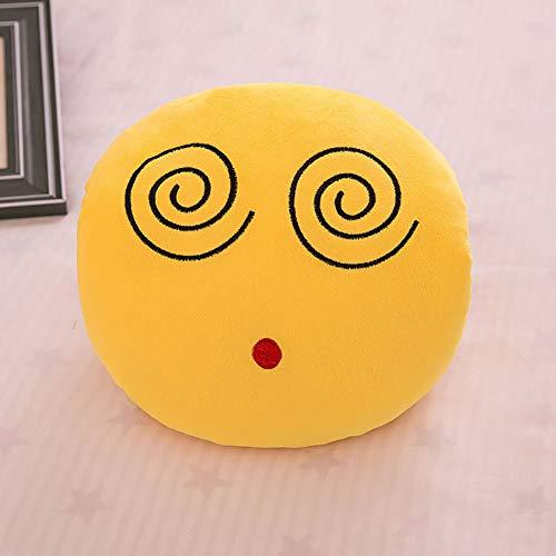 CCZMD Ronda Sonriente Figura Calentador de la Mano Guantes de Peluche de Juguete de Muebles de Juguete del Regalo del bebé Almohada Novedad de decoración,E