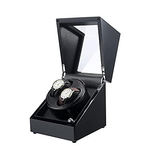 SGSG Caja enrolladora de Reloj automática de Madera, 4 Modos de rotación y Motor silencioso, Caja de Almacenamiento de Reloj multiepítopo, Adaptador de CA