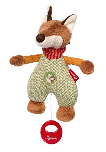 SIGIKID Mädchen und Jungen, Spieluhr zum Aufziehen, Fuchs Forest Fox, Babyspielzeug, empfohlen ab 0 Monaten, grün/braun, 39233