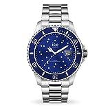 ICE-WATCH Ice Steel Blue Cosmos Silver - Reloj Plateado para Mujer con Correa de Metal, 016773 (Medium)