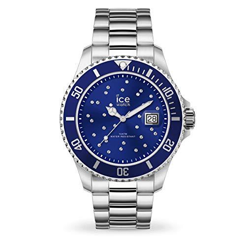 Ice-Watch - Ice Steel Blue Cosmos Silver - Montre Argent pour Femme avec Bracelet en Metal - 016773 (Medium)