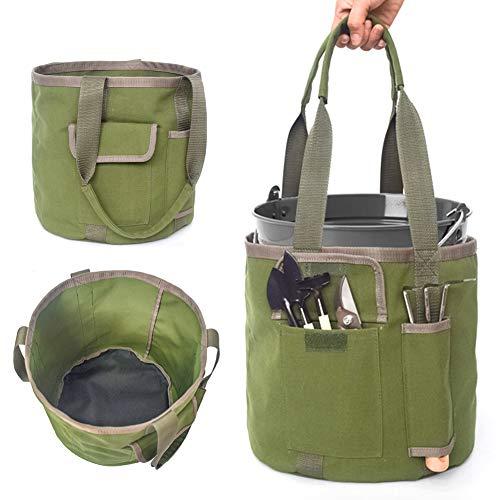 TankMR Aufbewahrungsbehälter für Gartenwerkzeuge, tragbar, wasserdicht, Segeltuch, Gartenwerkzeuge, Aufbewahrungseimer für Handtasche, Zuhause