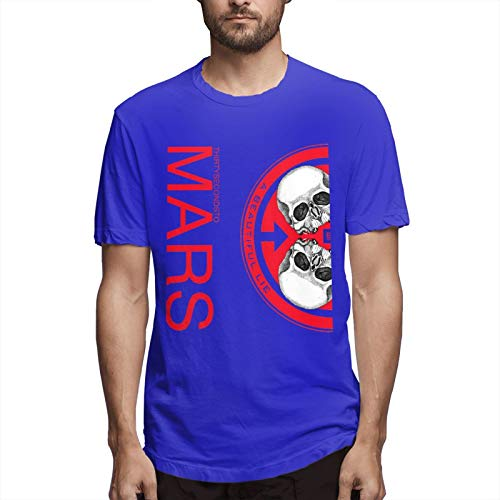 30 Seconds To Mars A Beautiful Lie Men's Short Sleeve T-Shirt Fashion Printed Casual Short Sleeve Cotton Blue 5XL