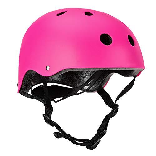 Children Cycle Bike Helmet, regolabile per bambini casco da bici BMX Multi sport, casco per la sicurezza sportiva per i pattini da mountain bike, leggero, guida di età 3-12 anni ragazzi/ragazze(Viola)