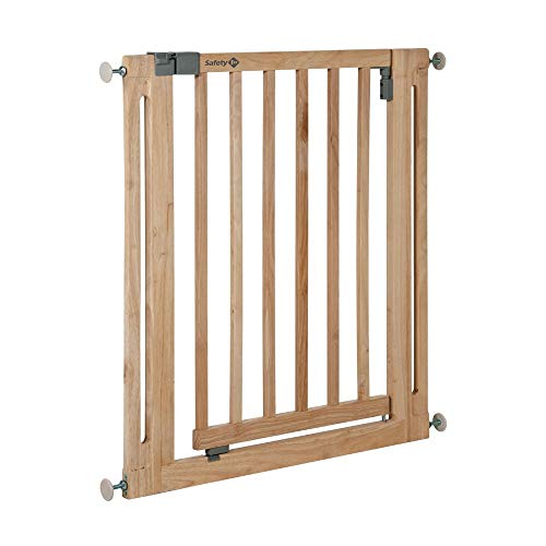 Safety 1st 24040100 Easy Close Wood Cancelletto Sicurezza per Bambini/Cani, Legno, H: 76 cm, L: fino a 80,5 cm