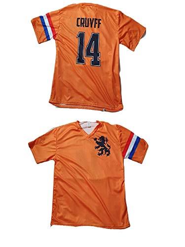 Generico Super T-Shirt Maglia ricordo Fan di Cruyff Olanda Coppa del Mondo 1978 Omaggio Portachiavi