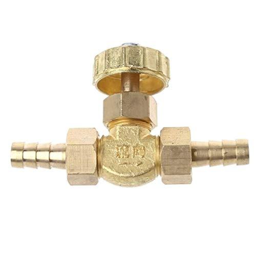 Válvula Válvula de Aguja de latón 8 mm Propano Butano Ajustador de Gas Espigas de púas 1 Mpa, Herramienta de Hardware