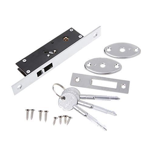 CADANIA duurzame aluminiumlegering schuifdeurhaak slot kruisvormige sleutelboutsloten voor ingelijste glazen deur