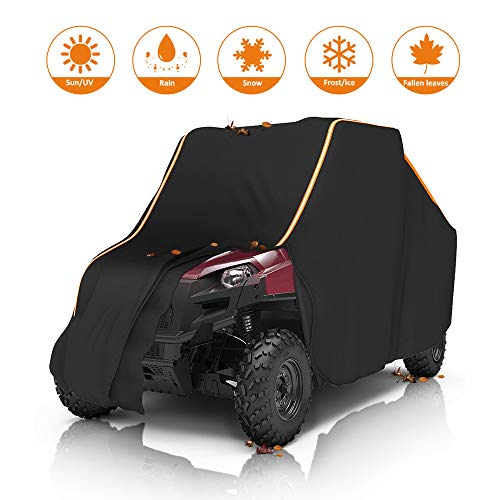 Ranger Cover, KEMIMOTO UTV Covers Waterproof All Weather Storage with Reflective Strip Compatible with Polaris Ranger RZR Protect Your SxS from Rain, Snow, Dirt, Debris and Damaging UV Rays