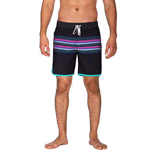 Hurley Herren Boardshort M Phantom Baja Malibu Volley 17', Black, S, BQ4137