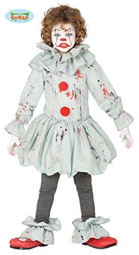 FIESTAS GUIRCA 87698, Disfraz de payaso asesino Killer IT para niño de 10/12 años, gris y rojo, 10-12