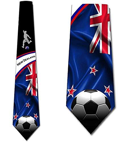 Voetbal Ties Mens Nieuw-Zeeland Tie Voetbal Sport Necktie door Three Rooker