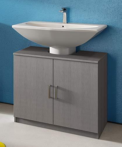 IdeaStella Odessa Sottocolonna 2 Ante. Mobile Bagno sotto lavabo Copri Colonna lavandino Universale (Larice Grigio)