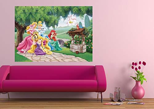 AG Design FTDm 0725 Disney Princess Prinzessinen, Papier Fototapete Kinderzimmer- 160x115 cm - 1 Teil, Papier, multicolor, 0,1 x 160 x 115 cm