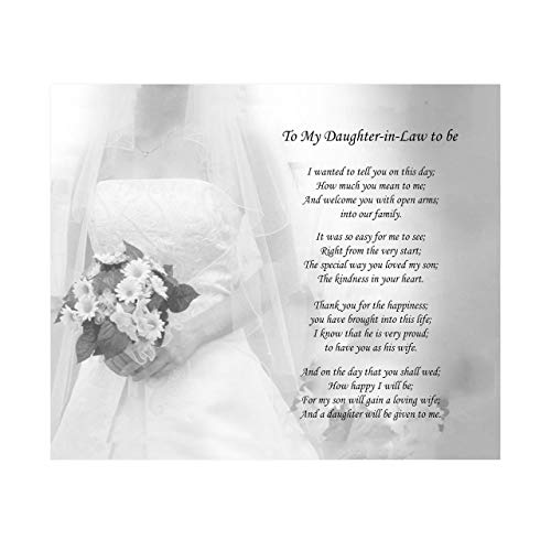'Daughter-in-Law to Be- What You Mean To Me'- 10 x 8' Wall Art-Ready to Frame. Heartfelt Gift Saying Welcome To Our Family. Perfect Keepsake Wedding Gift for Any In-Law's & Brides-Room to Sign.