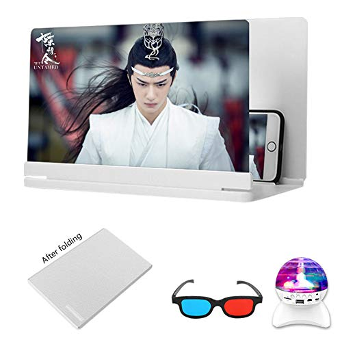 XYHWZY Phone Screen Magnifier 24 inch Anti-Blue Light 3D HD Movie Video Amplifier Zooms 3-4 Times Protect Eyes Enlarger Screen Suitable for Mobile Phones/Tablets/Switch Game Consoles etc