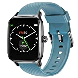 Letsfit Smart Watch for Android Phones, Fitness Tracker with Heart Rate & Sleep Monitor & Blood Oxygen Saturation, 5ATM Waterproof Cardio Smartwatch for Women Men Compatible with iPhone Samsung-Blue