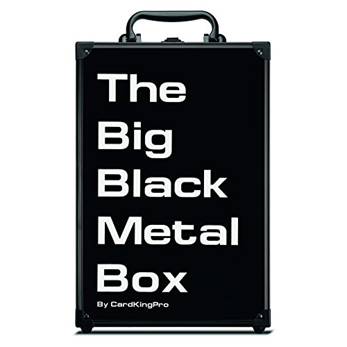 The Big Black Metal Box (PRO Edition)   Case is Compatible with Magic The Gathering, MTG, All Standard Card Games (Game Not Included)   Includes 8 Dividers   Fits up to 2500 Loose Unsleeved Cards image