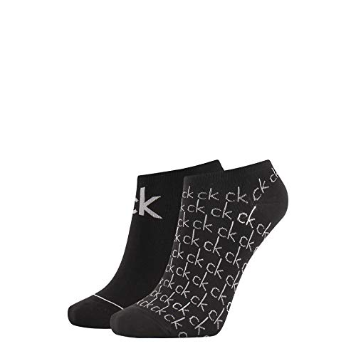 Calvin Klein Liner Repeat Logo Callie Socks Calcetines, Negro, Talla única para Mujer