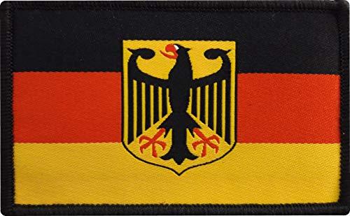 2 x Deutschland Adler Patch ca.8cm x 5cm Aufnäher mit Klettverschluss Deutsch Germany Heimat Klett T-Shirt Jacke Hosen Cap
