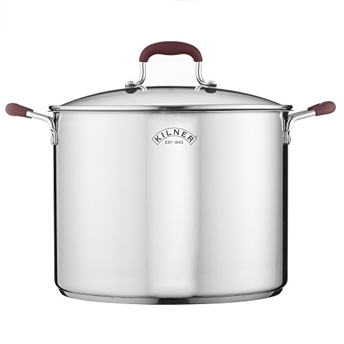 Picture of Kilner Canning Pan & Rack Set, Large Stockpot with Glass Lid, Stainless Steel