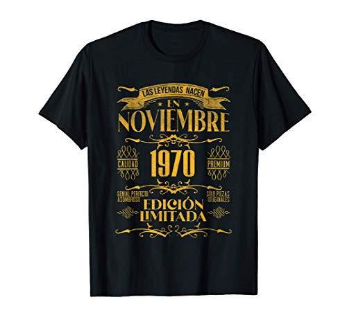 Las Leyendas nacen en Noviembre de 1970 - 51 años Cumpleaños Camiseta