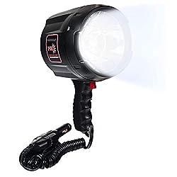 Tactic Pro Glare Free Blue Max Marine 12V DC Spotlight 100W Halogen Bulb Light
