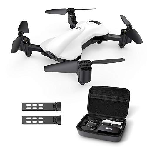 Holy Stone ドローン 2Kカメラ付き GPS搭載 折り畳み式 200g以下 飛行時間30分 収納ケース付き 小型 バッテリー2個フォローミーモード ウェイポイントモード 高度維持 モード1/2自由転換可 国内認証済み HS165-2K(ホワイト)