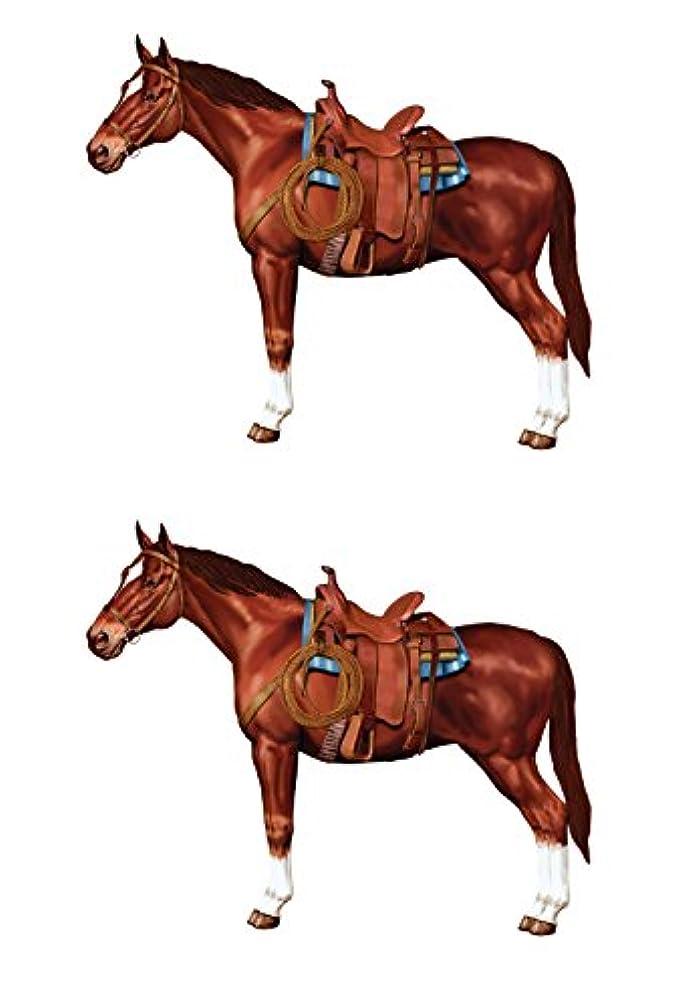 Beistle S50228AZ2, 2 Piece Jointed Horses, 3' 2''