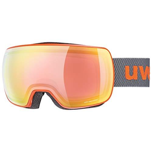 Uvex Unisex– Erwachsene Compact FM Skibrille, orange mat/Rainbow-Rose, one Size