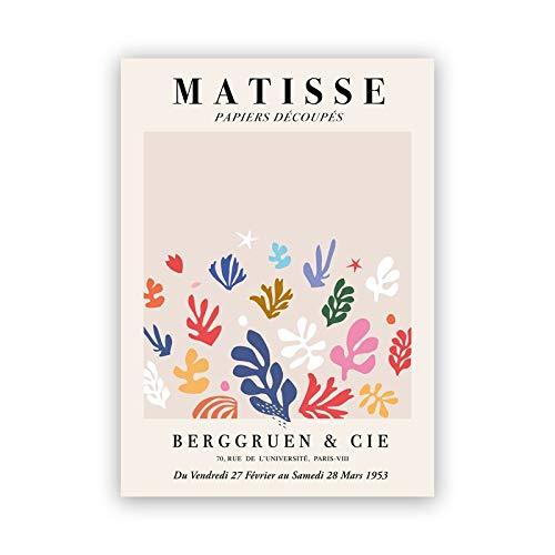 Impresiones abstractas de Henri Matisse Matisse Tate, cartel de exposición moderno, galería, cuadro artístico de pared, lienzo sin marco, pintura A3 20x30cm