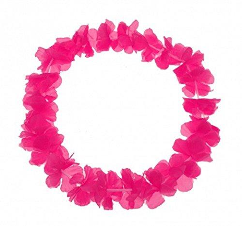 Schramm 30er Pack Blumenkette Pink einfarbige Blüte Blumenketten Hawaiikette Hawaiiketten Hawaii Kette Blume Bumen Halskette Halsketten...