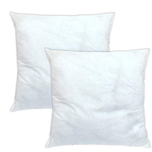 Bleu Câlin CORP Coussins de Garnissage Blancs 50x50 cm Lot de 2