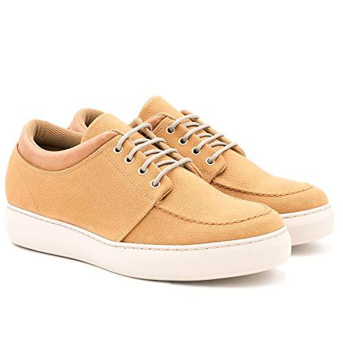 Zapatos con Alzas para Hombre. Aumentan Altura hasta 6 cm. Fabricados EN Piel. Modelo Harlem (42, Marrón)