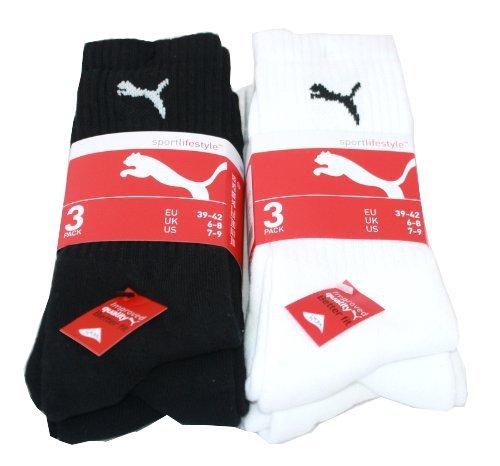 Puma Sports Herren SockenSocken 6er-Pack,Schwarz/weiß,39/42