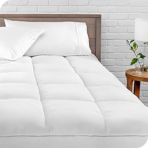 Bare Home Pillow-Top Queen Mattress Pad - Premium Goose Down...