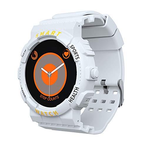 UIEMMY Pulsera Inteligente Bluetooth Llamada frecuencia cardíaca presión Arterial medición de detección de oxígeno en Sangre Reloj de Temperatura Corporal, Blanco