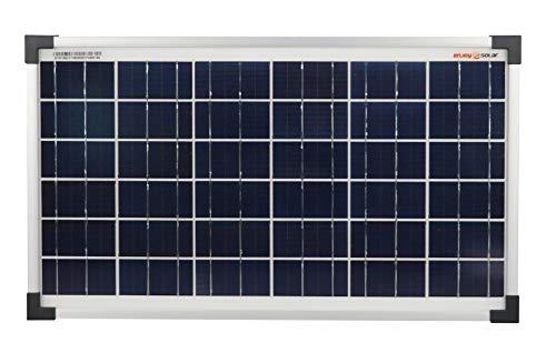 enjoysolar® polykristallin 20W 12V Módulo Solar Panel Solar Poly 20W IDEAL PARA Jardín Autocaravana Caravan