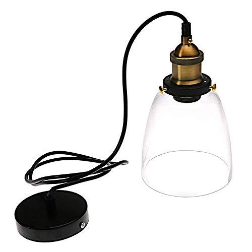 YINETTECH Retro Deckenlampen Pendelleuchte Glas Lampeschirm Loft Edison Hängelampe Leuchte