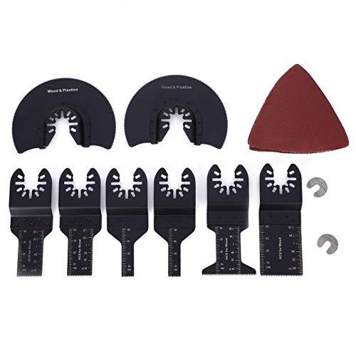 Hojas de sierra de 33 piezas, hoja oscilante, hoja de sierra universal oscilante multiherramienta Herramienta de corte de acero de alto carbono, para corte limpio de mecanizado de acabado para trabaja