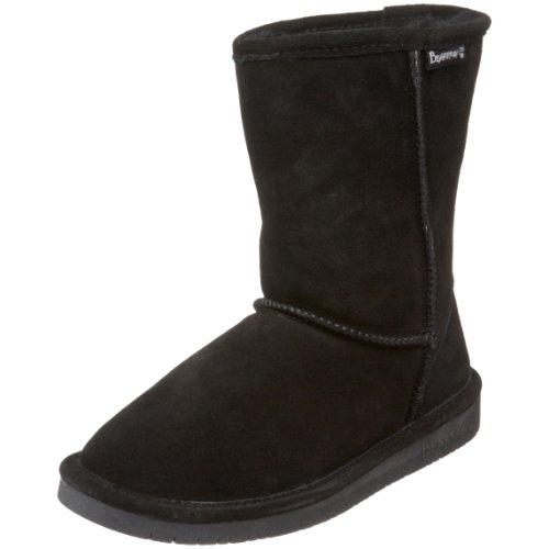 BEARPAW Women's Emma Short Boot,Black, (6)