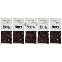 Set de 5 Tabletas 100% Masa de Cacao – 450 g, Beppiani – Chocolate Artesanal – MADE IN ITALY