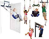 Gorilla Gym Deluxe Indoor Playground with Indoor Swing, Plastic Rings, Trapeze Bar, Climbing Ladder, and Swinging Rope