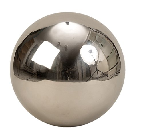 Geschenkestadl XXL Dekokugel Silberkugel ca. Ø 30 cm Silber Glanz aus Edelstahl Rosenkugel Garten Kugel Weihnachten