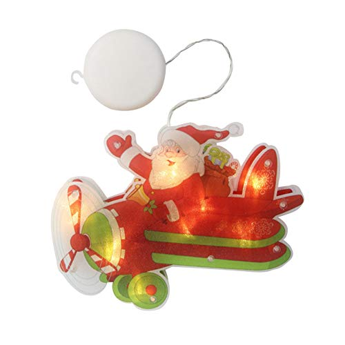 househome - Cortina luminosa con diseño de Navidad en 3D para colgar en la ventana, balcón, terraza, ventana, patio, jardín, casa, color blanco cálido