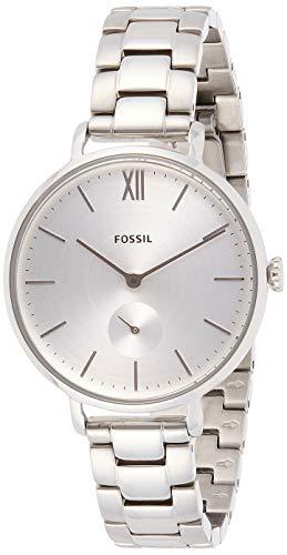 Fossil Reloj de pulsera analógico de cuarzo para mujer, acero inoxidable 32010663